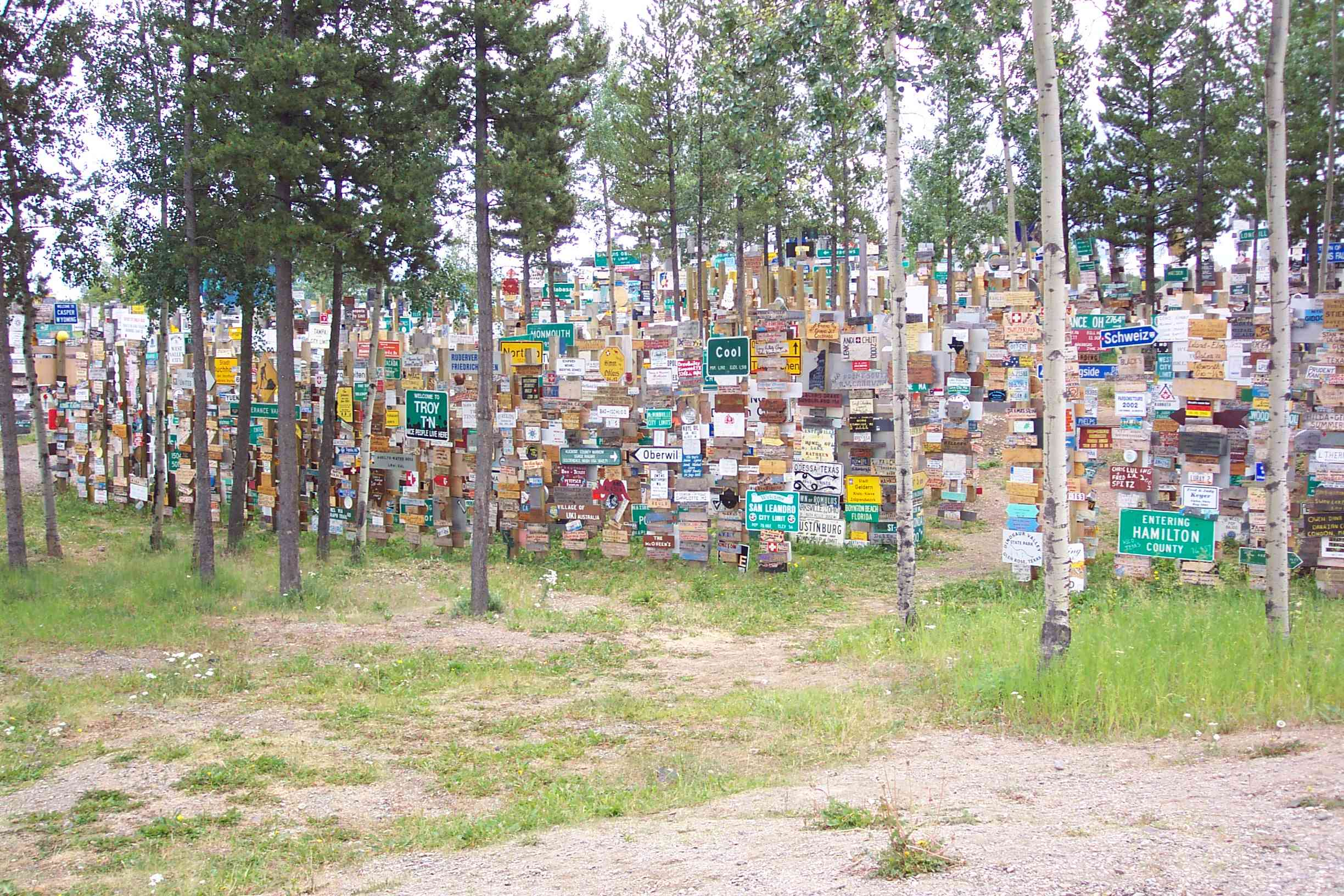 Sign Post Forest, Watson Lake, YT